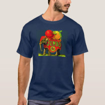 Jumbo Elephant Vintage Fruit Crate Label Art