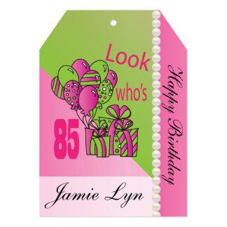 Jumbo Gift Tag - Look Who's 85   85th Birthday Card