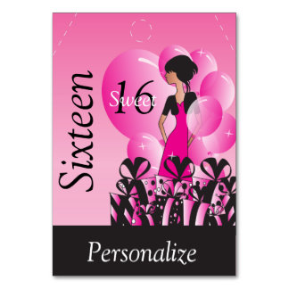 Jumbo Gift Tag - Sweet Sixteen Card
