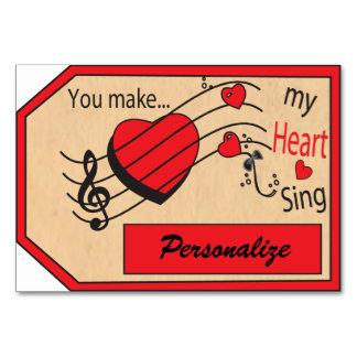 Jumbo Gift Tag You Make My Heart Sing Card