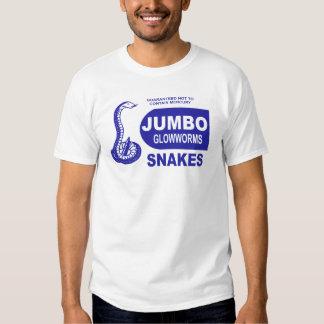 Jumbo Glowworm Fourth of July Snake Fireworks Tee Shirt
