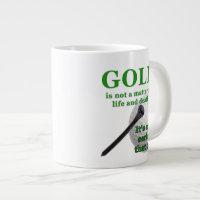 Jumbo golf coffee mug