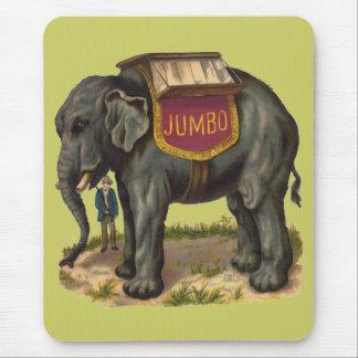 Jumbo, gran elefante de la pinta Barnum Alfombrilla De Ratón