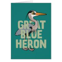 Jumbo Great Blue Heron Note Card