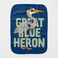 Jumbo Great Blue Heron Burp Cloth