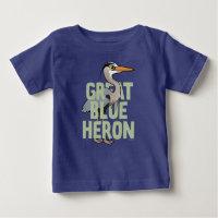 Jumbo Great Blue Heron Baby Fine Jersey T-Shirt