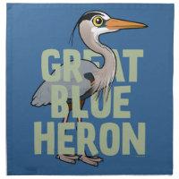 Jumbo Great Blue Heron Cloth Napkins (set of 4) dinner 20