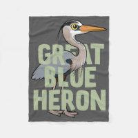 Jumbo Great Blue Heron Fleece Blanket, 30