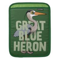 Jumbo Great Blue Heron iPad Sleeve