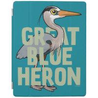 Jumbo Great Blue Heron iPad 2/3/4 Cover