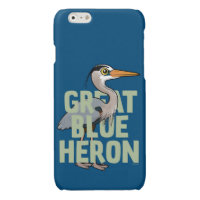 Jumbo Great Blue Heron Case Savvy iPhone 6 Glossy Finish Case