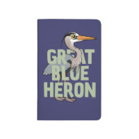 Jumbo Great Blue Heron Pocket Journal
