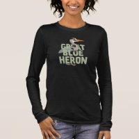 Jumbo Great Blue Heron Women's Basic Long Sleeve T-Shirt