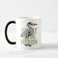 Jumbo Great Blue Heron Morphing Mug