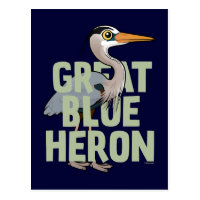 Jumbo Great Blue Heron Postcard