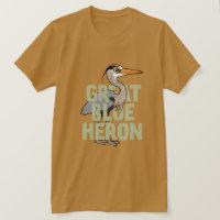 Jumbo Great Blue Heron Men's Basic American Apparel T-Shirt