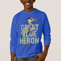 Jumbo Great Blue Heron Kids' Basic Long Sleeve T-Shirt