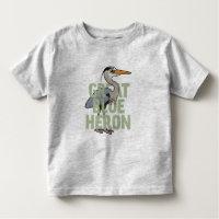 Jumbo Great Blue Heron Toddler Fine Jersey T-Shirt