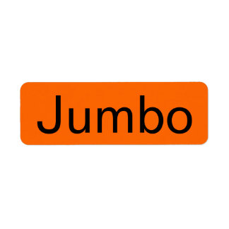 Jumbo Grocery Orange Tag Label