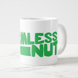 Jumbo HARMLESS NUT Mug green text