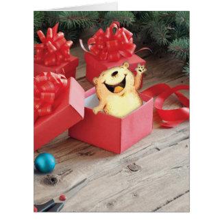 Jumbo Holiday Fuzzy Tummies Christmas Card