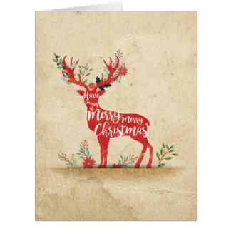 Jumbo Holiday Knockout Christmas Card