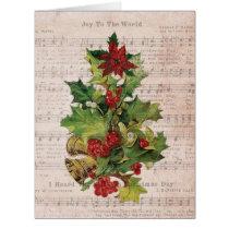 Jumbo Holly Notes Christmas Card