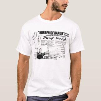 Jumbo Horsehide Hands Vintage Ad T-Shirt