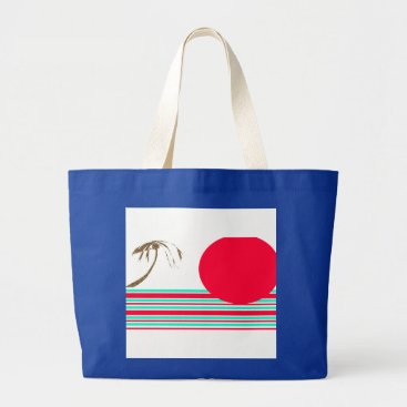 Beach Themed Jumbo Island Sun Graphic Tote
