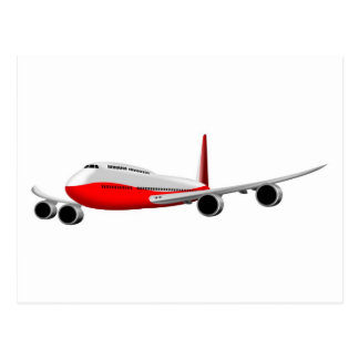 jumbo jet plane airplane aircraft flying flight postcards
