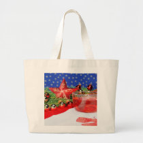 Jumbo jet shopping bag with Christmas picture
