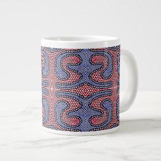 Jumbo Large Coffee Mug Cup American Gingham Check