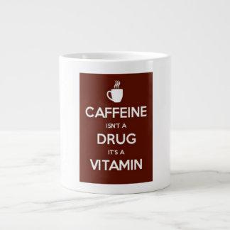 Jumbo Mug: Caffeine is a Vitamin Large Coffee Mug