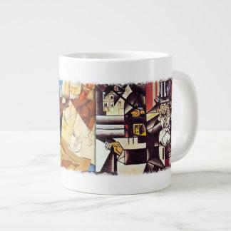 Jumbo Mug - Cubist's Kitchen, by Juan Gris 20 Oz Large Ceramic Coffee Mug