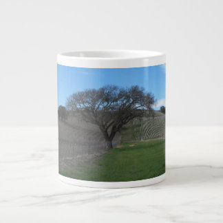 Jumbo Mug or Soup Bowl: Oaks in Vineyard