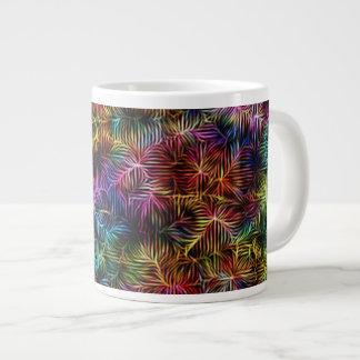Jumbo Mug - Rainbow Weave 20 Oz Large Ceramic Coffee Mug