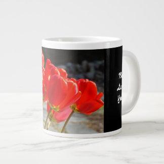 Jumbo Mug Red Tulip Flowers We Love Grandma!