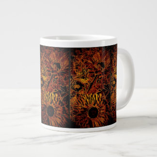Jumbo Mug with Copper Sunflowers