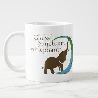 Jumbo mug with logo