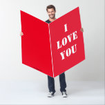 Jumbo Personalized I LOVE YOU Card Valentines day