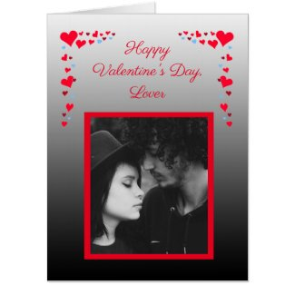 "Jumbo Personalized Photo Valentines Day ""Card Card"