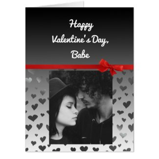 """Jumbo Personalized Photo Valentines Day """"Card Card"""