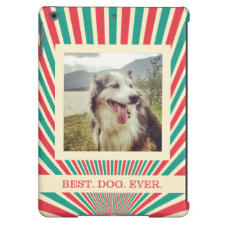 Jumbo Photo and Custom Text Bright Colors Case For iPad Air