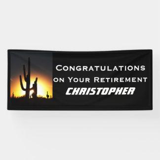 JUMBO Retirement/Graduation Banner, Saguaro Banner