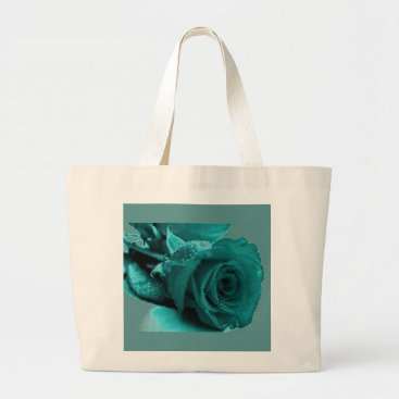 Beach Themed Jumbo Rose Graphic Tote