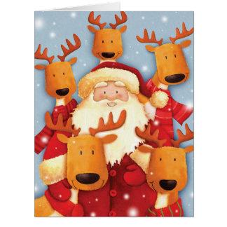 Jumbo Santa Selfies Christmas Card
