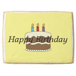 Jumbo Short Bread Cookie- Happy Birthday Jumbo Shortbread Cookie
