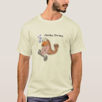 Jumbo Shrimp t-shirt (oxymoron)