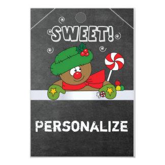 "Jumbo Size Gingerbread Gift Tag 3.5"" X 5"" Invitation Card"