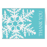 Jumbo Snowflake Thank You Card (Teal / White)